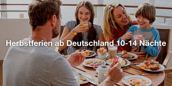 Herbstferien ab Deutschland 10-14 Nächte
