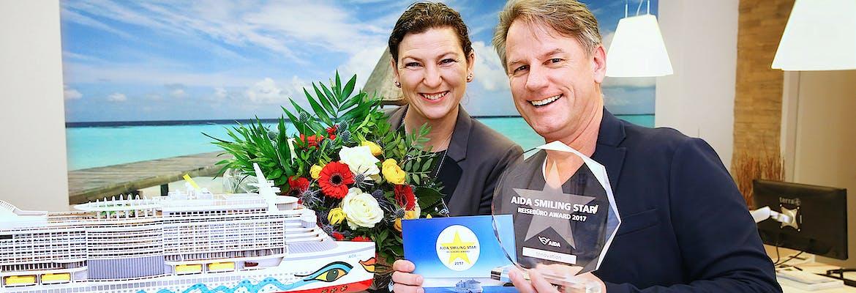 AIDA SMILING STAR Reisebüro-Award 2017