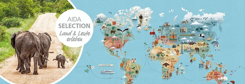 AIDAaura Weltreise 2018/19 - AIDA Selection