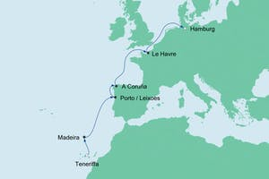 Teneriffa nach Hamburg