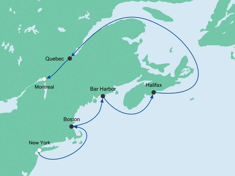 Von Montreal nach New York mit Hotel