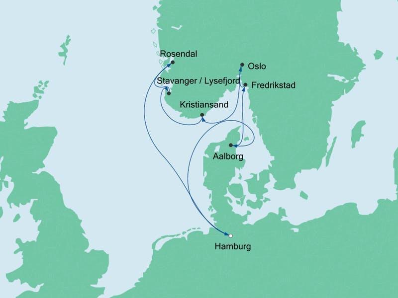 Skandinavien mit Hardangerfjord