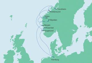 Norwegens Fjorde mit Trondheim