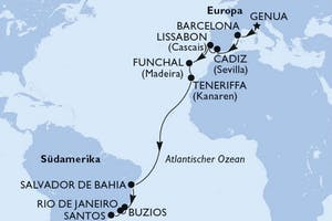 Italien, Spanien, Portugal, Brasilien