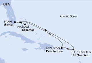 USA, St. Maarten, Puerto-rico, Bahamas