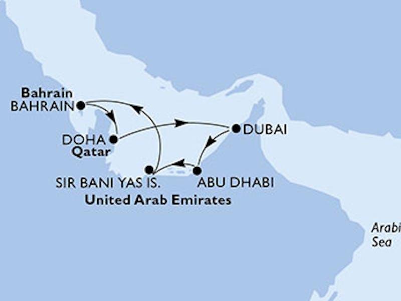 Vereinigte Arabische Emirate, Bahrain, Katar