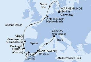 Deutschland, Niederlande, Spanien, Portugal, Italien