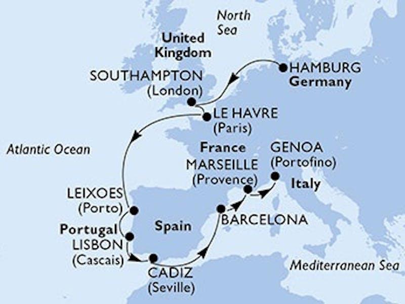 Deutschland, Grossbritannien, Frankreich, Portugal, Spanien, Italien