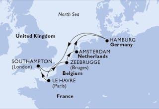 Deutschland, Frankreich, Großbritannien, Belgien, Niederlande