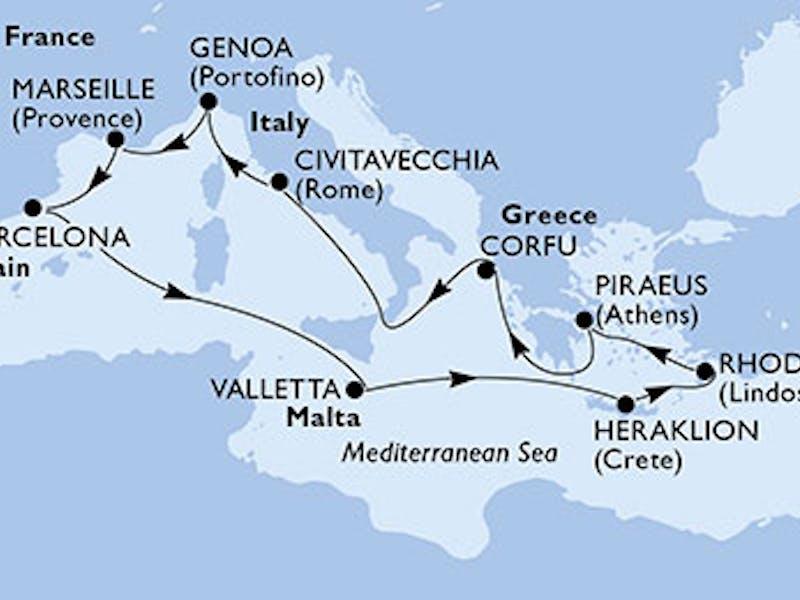 Italien, Frankreich, Spanien, Malta, Griechenland