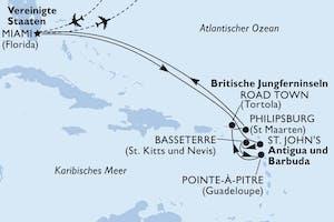Usa, Antigua-barbuda, Saint Kitts - Nevis, Guadalupe, Virgin Islands (british), St. Maarten