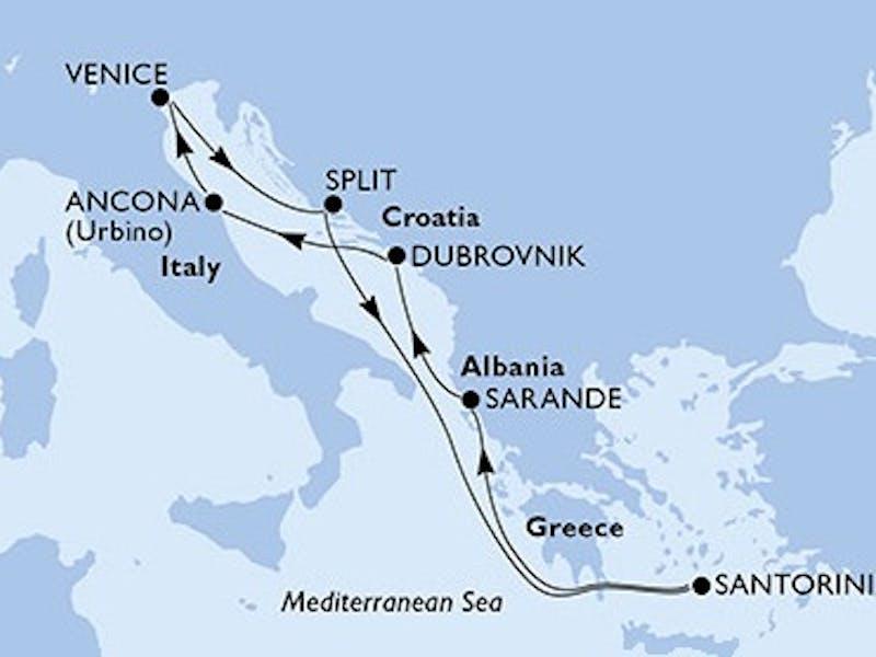 Italien, Kroatien, Griechenland, Albanien