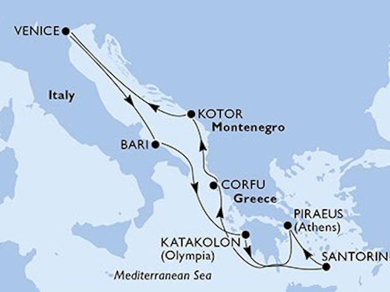Italien, Griechenland, Montenegro