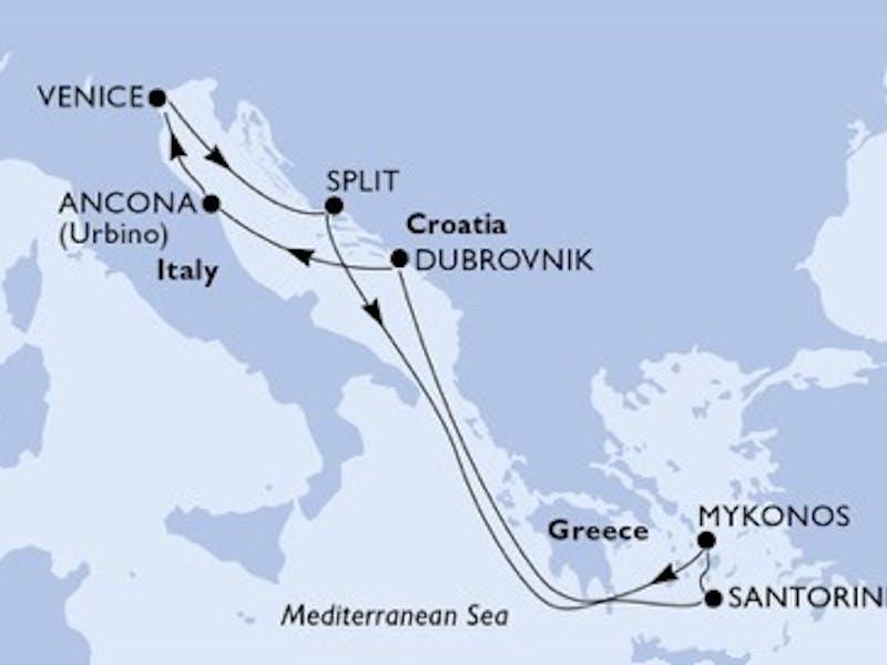 Italien, Kroatien, Griechenland