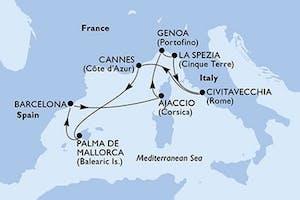 Italien, Frankreich, Spanien