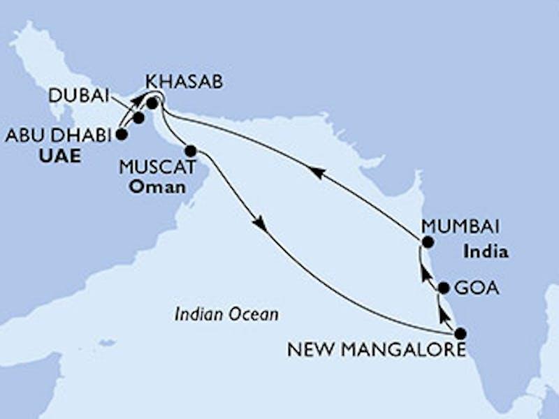 Vereinigte Arabische Emirate, Oman, Indien