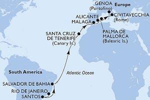 Brasilien, Spanien, Italien