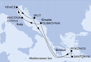 Östliches Mittelmeer ab Venedig