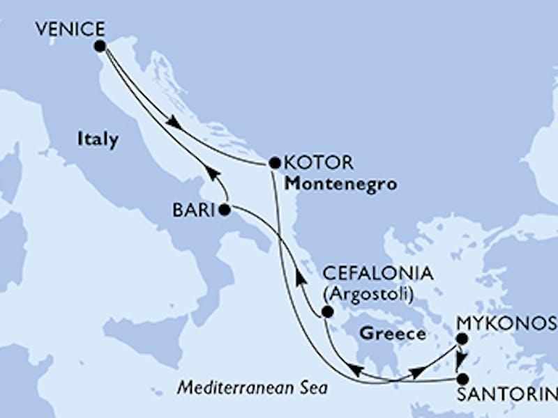 Italien, Montenegro, Griechenland