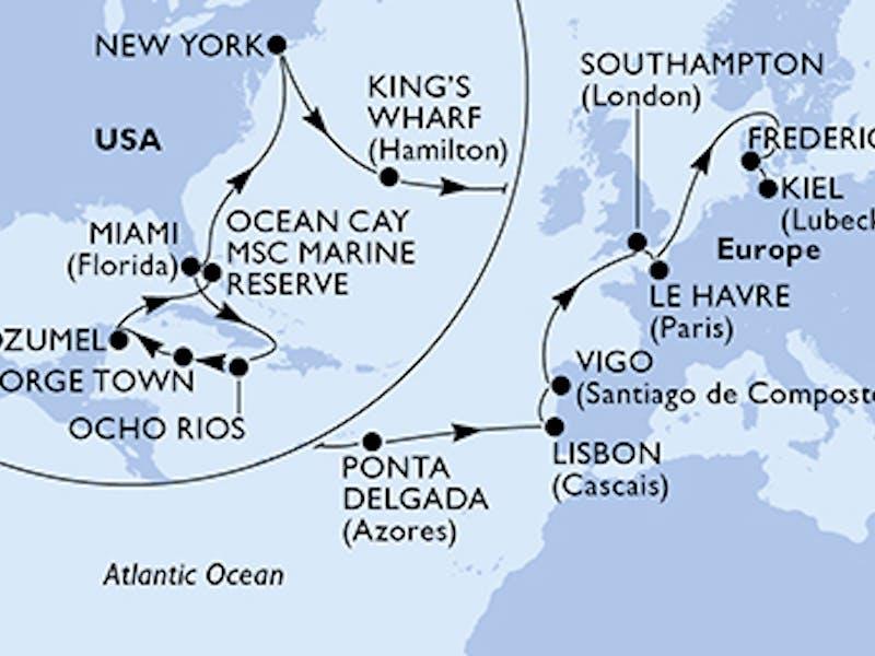 Usa, Jamaika, Cayman Islands, Mexiko, Bahamas, Bermuda, Portugal, Spanien, Grossbritannien, Frankreich, Dänemark, Deutschland