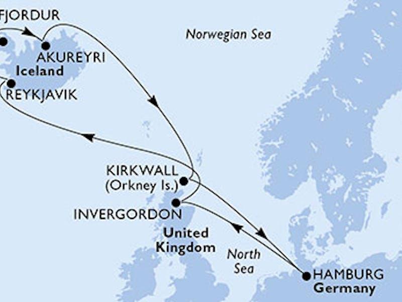 Deutschland, Grossbritannien, Island