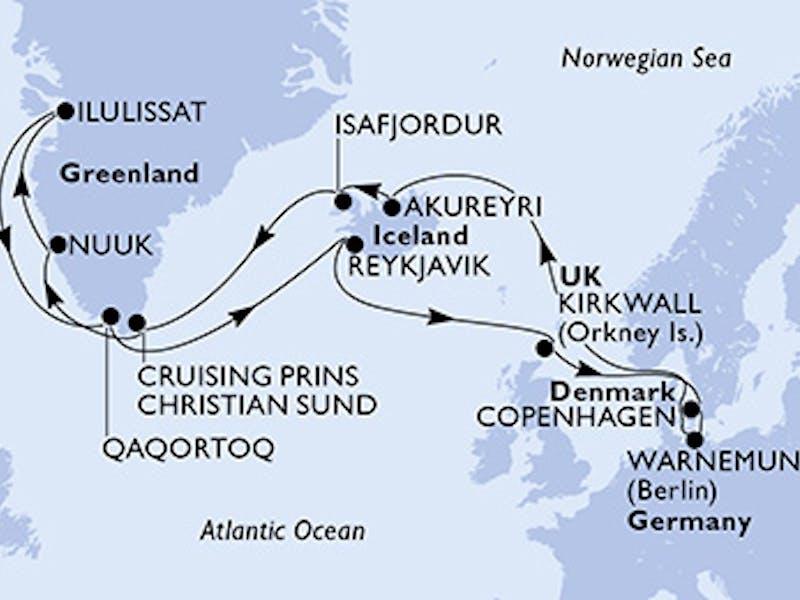 Deutschland, Island, Grönland, Grossbritannien, Dänemark