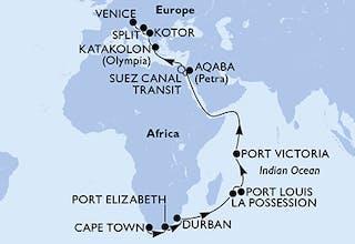 Südafrika, Réunion, Mauritius, Seychellen, Jordan, ägypten, Griechenland, Montenegro, Kroatien, Italien