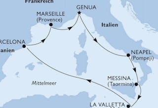 Italien, Malta, Spanien, Frankreich