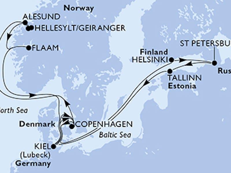 Deutschland, Dänemark, Norwegen, Finnland, Russland, Estland