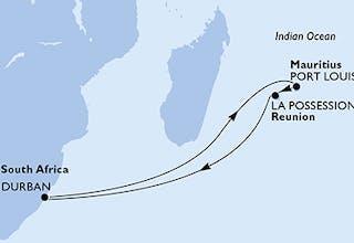 Südafrika, Mauritius, Réunion