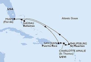 Karibik Special - Sommer 2019: MSC Seaside - Karibik mit Bahamas