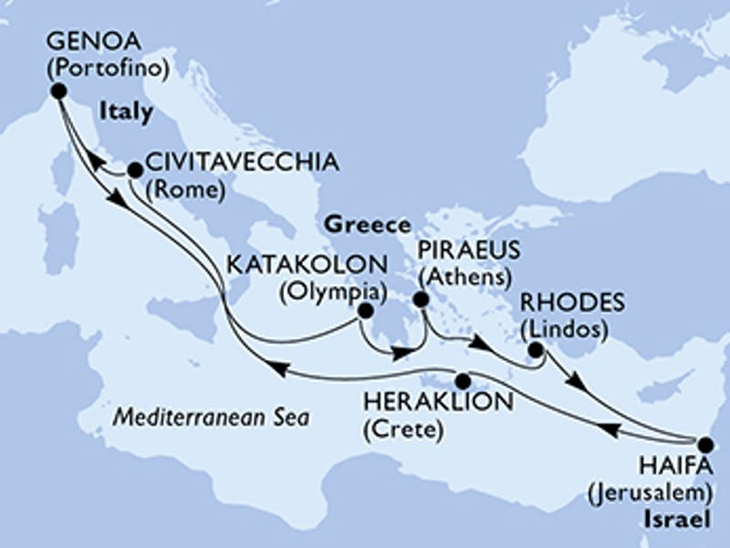 Italien, Griechenland, Israel