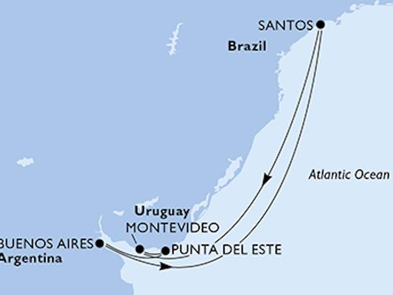 Brasilien, Uruguay, Argentinien