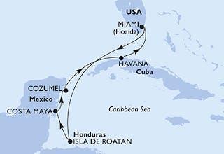 Usa, Honduras, Mexiko, Kuba