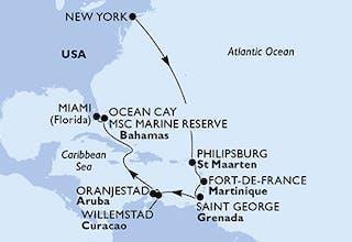 Usa, Niederländische Antillen, Martinique, Grenada, Aruba, Bahamas
