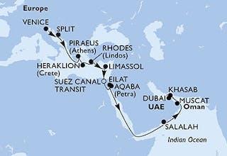 Venedig bis Dubai