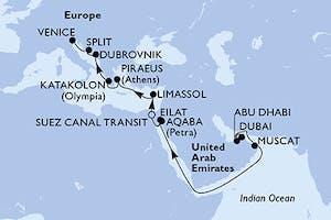 Dubai bis Venedig