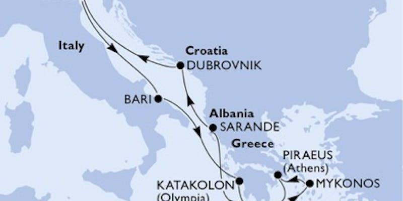 Italien, Griechenland, Albanien, Kroatien