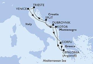 Italien, Kroatien, Griechenland, Montenegro