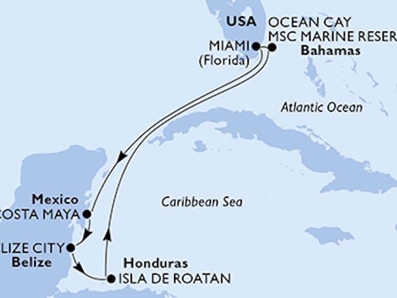 Usa, Mexiko, Belize, Honduras, Bahamas
