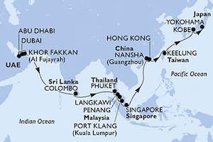 Msc Grand Voyages - von Orient bis Japan
