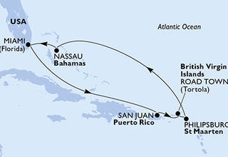 Usa, Puerto-rico, Virgin Islands (british), St. Maarten, Bahamas