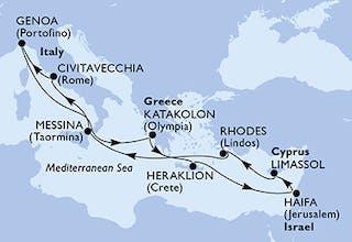 Italien, Griechenland, Israel, Zypern
