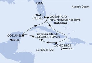 Usa, Jamaika, Cayman Islands, Mexiko, Bahamas, Belize, Honduras