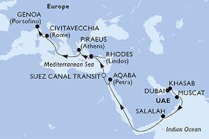 Dubai bis Genua