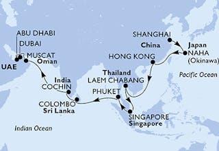 China, Japan, Hongkong, Thailand, Singapur, Sri Lanka, Indien, Oman, Vereinigte Arabische Emirate