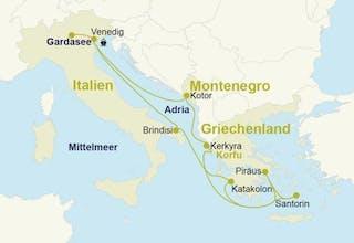 Östliches Mittelmeer mit Gardasee