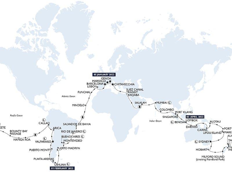 Msc World Cruise 2022