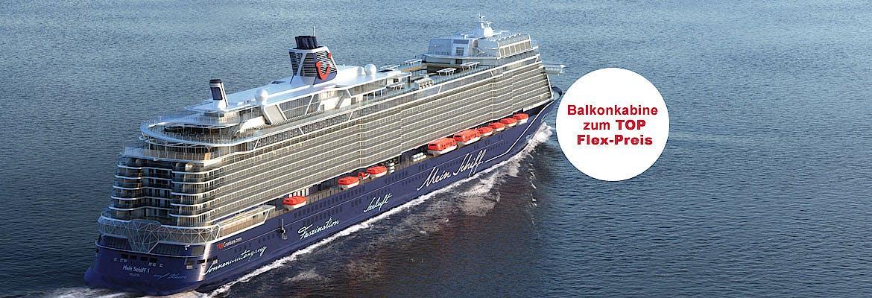 Last Minute: Auszeit! - Mein Schiff 1 oder Mein Schiff 3 - Westeuropa Variante 1 inkl. Hinflug