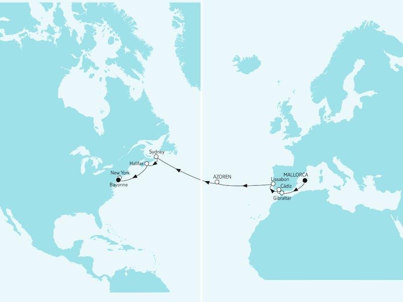 Mallorca bis New York